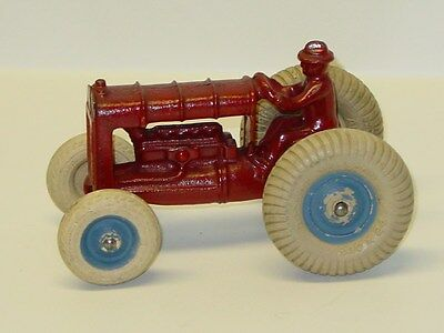 Vintage Cast Iron Arcade Fordson Tractor With Driver, Toy