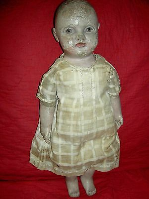 RARE antique Philadelphia Baby cloth doll by JB Sheppard & Co. & orig.1900 photo
