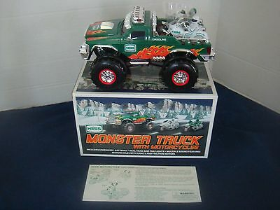 2007 HESS MONSTER TRUCK w/ MOTORCYCLES~ORIGINAL BOX~NEVER OPENED OR PLAYED WITH!