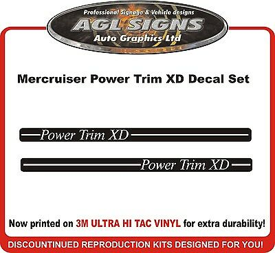 Mercruiser Power Trim XD Decal Set   reproductions  Alpha Bravo