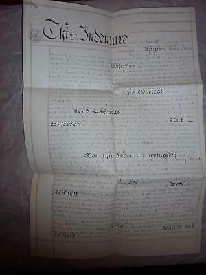 1855 Manuscript Paper Indenture Assignmnt Document Chapel St. St.day Cornwall #3