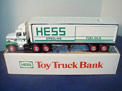 1987 Hess Toy Truck Bank~Original Box~Displayed Only~Never Played With!
