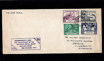 Bermuda 1949 Upu - Complete Set - First Day Cover - With St.georges Cds Postmark
