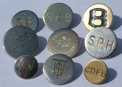 COLLECTION JOB LOT OF VINTAGE HUNT BUTTONS HUNTING LIVERY x 9