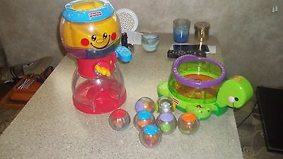 Fisher Price Gumball Turtle 7 Roll Around Balls music sounds lights toddler toy