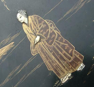 "LARGE 13.75"" x 10.75"" ANTIQUE 19th CENTURY JAPANESE LACQUER PANEL"