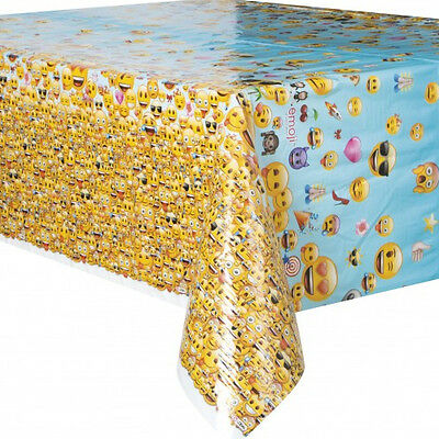 EMOJI PLASTIC TABLE COVER Birthday Party Supplies Decorations Cloth LOL IPhone