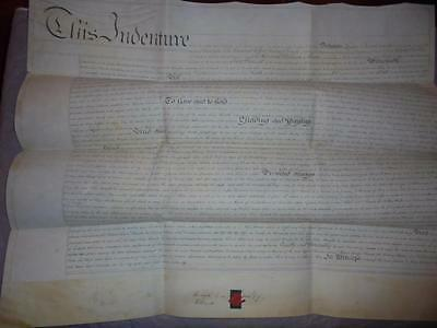 1830 MANUSCRIPT VELLUM INDENTURE LEASE DOCUMENT GWENNAP MANOR StDAY CORNWALL #11