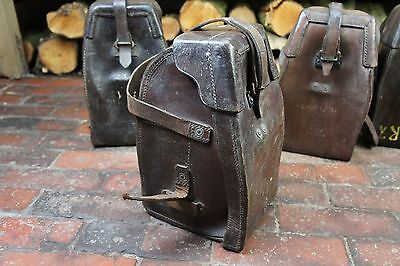 Stunning Military Antique Leather Instrument Carriers