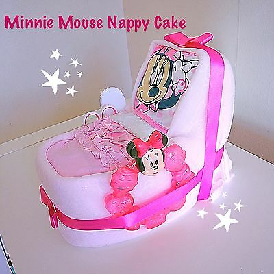 Girl Baby Shower Nappy Cake/ Baby Gift/ Girls Hamper Gift /Disney Minnie Mouse