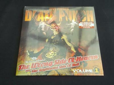"Five Finger Death Punch The Wrong Side Of Heaven 2016 2 X 12"" Clear Vinyl Record"