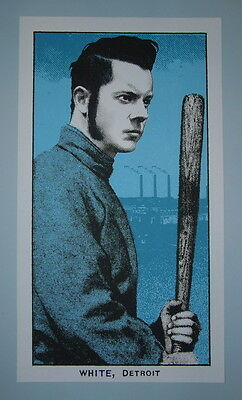 Jack White Rob Jones Boston Fenway Park Poster Print 2014 Baseball Card