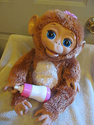 """Hasbro FurReal Fur Real Friends Cuddles My Giggly Monkey 16"""" Interactive Pet"""