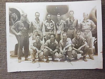 Vintage WW II US Army Air Force Air Crew B/W Photograph Named