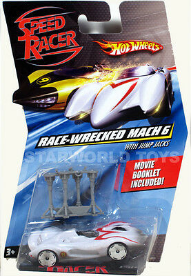 Hot Wheels Speed Racer 1:64 RACE-WRECKED MACH 6 with Jump Jacks MOVIE ACCESSORY