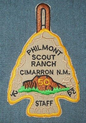 Philmont Scout Ranch Cimarron 50th Anniversary Staff Arrowhead Patch PB NT MINT!