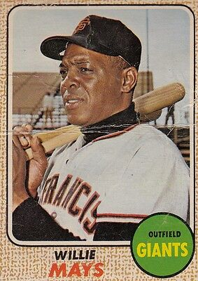 Topps 1968 #50 Willie Mays-Hall of Famer-San Francisco Giants