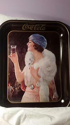 Vintage Coca-Cola Flapper Girl Tray 1973 reproduction