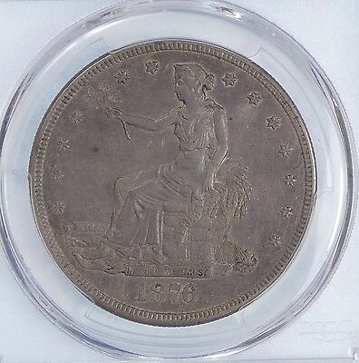 PCGS Genuine 1876-S Trade Dollar XF Details Silver $