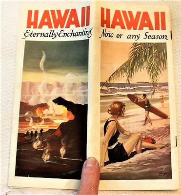 1923 HAWAII Travel Brochure,+ Mailer,+Tourfax,24 Pages,VG Cond,Lots of Color,NRe