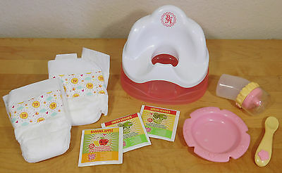 Learn to POTTY Chair Replacement Magnetic Bottle & Spoon Baby Alive Doll 2007 +