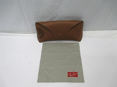 Rayban Aviator Sunglass Brown Sunglasses Case With Cleaning Cloth