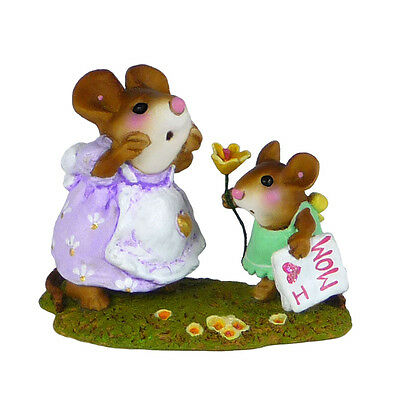 I LOVE YOU, MOM! by Wee Forest Folk, WFF# M-240c Retired Limited Edition 2015