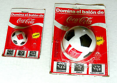 "(Lot Of 2 Different) Mexican ""disfrute Coca-Cola"" Soccer Ball Shape Puzzles"