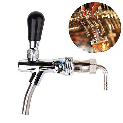 Draft Beer Faucet Flow Controller Chrome G5/8 Thead Long Shank For Kegerator Tap