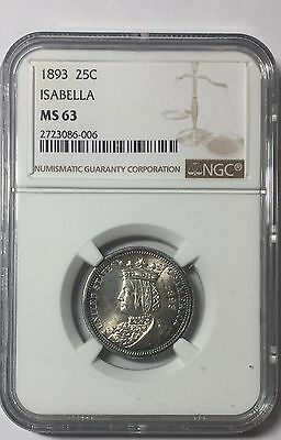 1893 Isabella Silver Commemorative Quarter - MS63 NGC