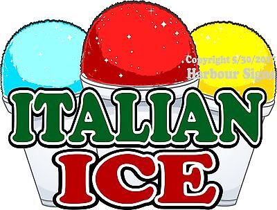 Italian Ice DECAL (Choose Your Size) Concession Food Truck Sign Sticker
