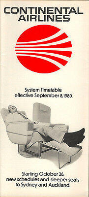Continental Airlines system timetable 9/8/80 [308CO] Buy 2 Get 1 Free