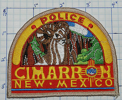 New Mexico, Cimarron Police Red & Yellow Patch
