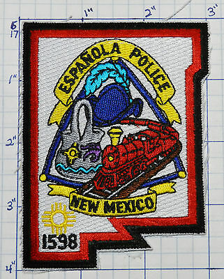 New Mexico, Espanola Police Dept Train Patch