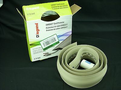 LEGRAND 5' Cord Protector CDI-5 IVORY Floor Safety Cord Cover