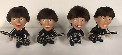 Beatles Remco Seltaeb Dolls Full Set Of 4 1964 W/instruments Free S/h Nice!