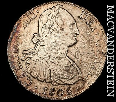 Mexico: 1808-Mo,th Eight Reales- Scarce !! Extra Fine !!  #t7046