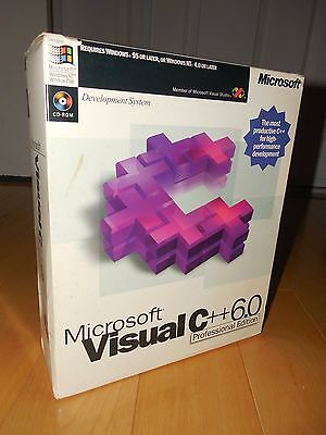 Microsoft Visual C++ 6.0 Professional VC6 C 6 Commercial Software Compiler