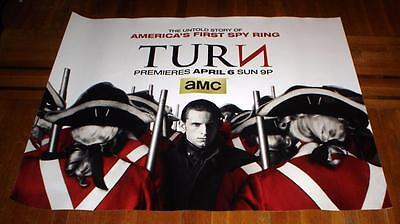 AMC network TURN The untold story of America's First Spy Ring 5FT POSTER 2014
