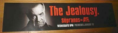 THE SOPRANOS Paulie Walnuts 4FT subway BANNER POSTER