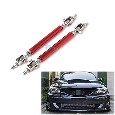 "Universal 4.5"" to 8"" Front Rear Frame Bumper Lip Protector Splitter Rod Support"