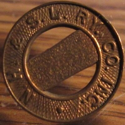 Very Old N.H.&S.L. Ry. Co. Saybrook, CT Transit Trolley Token - Connecticut