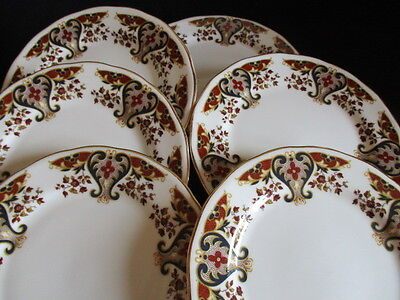 Vintage Colclough china Royale 8525 Side plates x 6