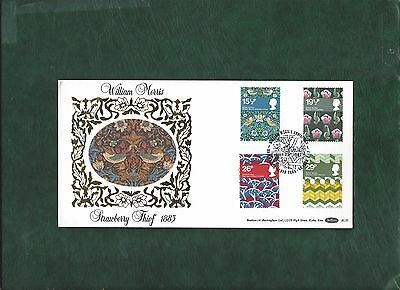 GB 1982 Textiles set on William Morris Benham silk first day cover FDC