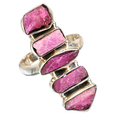 Pink Tourmaline 925 Sterling Silver Ring Size 7.25 Ana Co Jewelry R843781