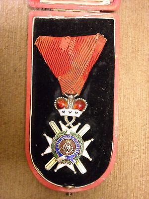 SERBIA - Order of the Cross of Takovo 4th Class & BOX. Extremely Rare.