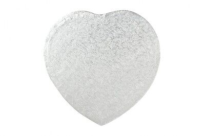 """14"""" Inch Heart Shaped Cake Drum Board 1/2"""" 12mm THICK"""