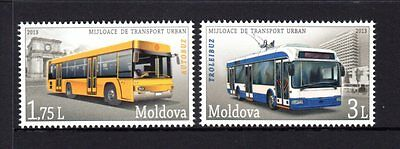 Moldova 2013 Public Transport Set 2 MNH