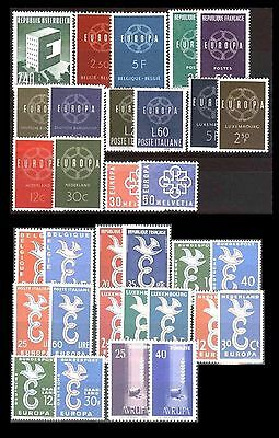 Cept Europa 1958/1959 ** annate complete MNH beautiful and complete collection