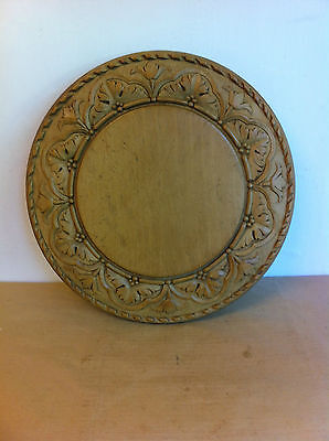 SUPERB VERY LARGE WELL CARVED UNUSUAL ANTIQUE SYCAMORE BREAD BOARD 12.8 inches